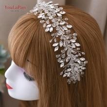 YouLaPan Wedding Headband Hair Accessories Crystal Wedding Hairpiece Rhinestone Hair Jewelry Wedding Tiara and Crown HP314 недорого