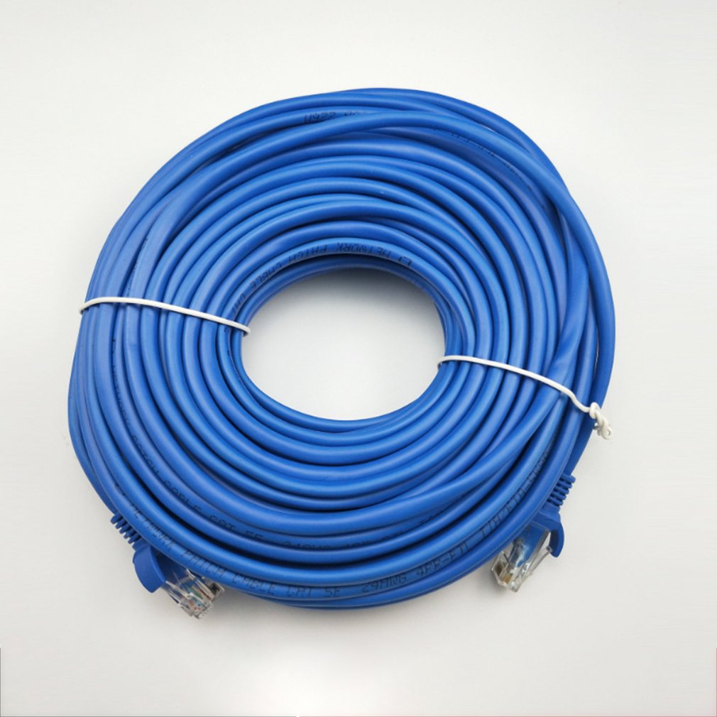 RJ45 Ethernet Cable Blue Network Cable 100FT 5/10/15/20/25/30/50M CAT5 CAT5E Network Jumper Internet Connection Cable