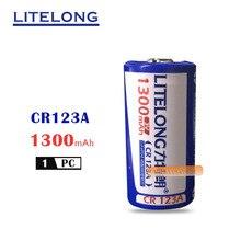 LITELONG CR123A литий-ионная аккумуляторная батарея 3V CR17335 литиевая батарея для камеры 16340 батарея 1300 мА* ч