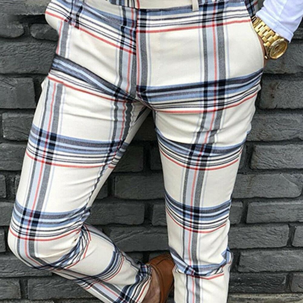 Fashion Mencolor Square Trousers Jogger Pants Fashion Sports Gym Workout Hip Hop Track Trousers Long Slacks Male Boy Cool Pants