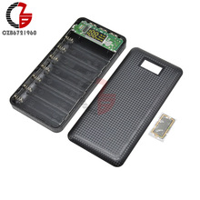 3 USB 7X 18650 Battery DIY Box Power Bank Case Holder 5V 1A 2.1A Digital LCD Display w/ LED Flashlight for iPhone Xiaomi Huawei