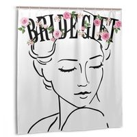 CHARM HOME To Be Bride Bridal Shower Gift Plastic Shower Curtain 66x72 In Customized Bathroom Decorative Waterproof Polyester