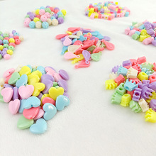 500g/Lot New Color Mix Solid Beads Children DIY Candy Color Acrylic Spacer Beads For Jewelry Making Kids Handmade Toys
