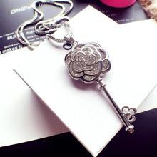 Женское ожерелье с подвеской «цветок розы» роскошное в Корейском