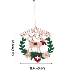 Pretty Bow Bowknot Christmas Hanging Pendant Home Christmas Tree Decorations Ornaments New Year 2019 Party natal Decoration 6
