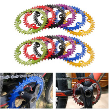 Bicycle Crank 104BCD Round Shape Narrow Wide 32T/34T/36T MTB Chainring Chainwheel Bike Circle Crankset Single Plate