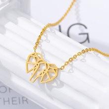 Счастливая и рисунком в виде птичек оригами Слон Подвески Ожерелья