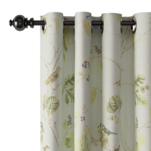 Grommet Animals Polyester Curtain Window Drapery Size and Liner Custom ChadMade Luna (1 Panel) Curtain For Track Traverse Rod