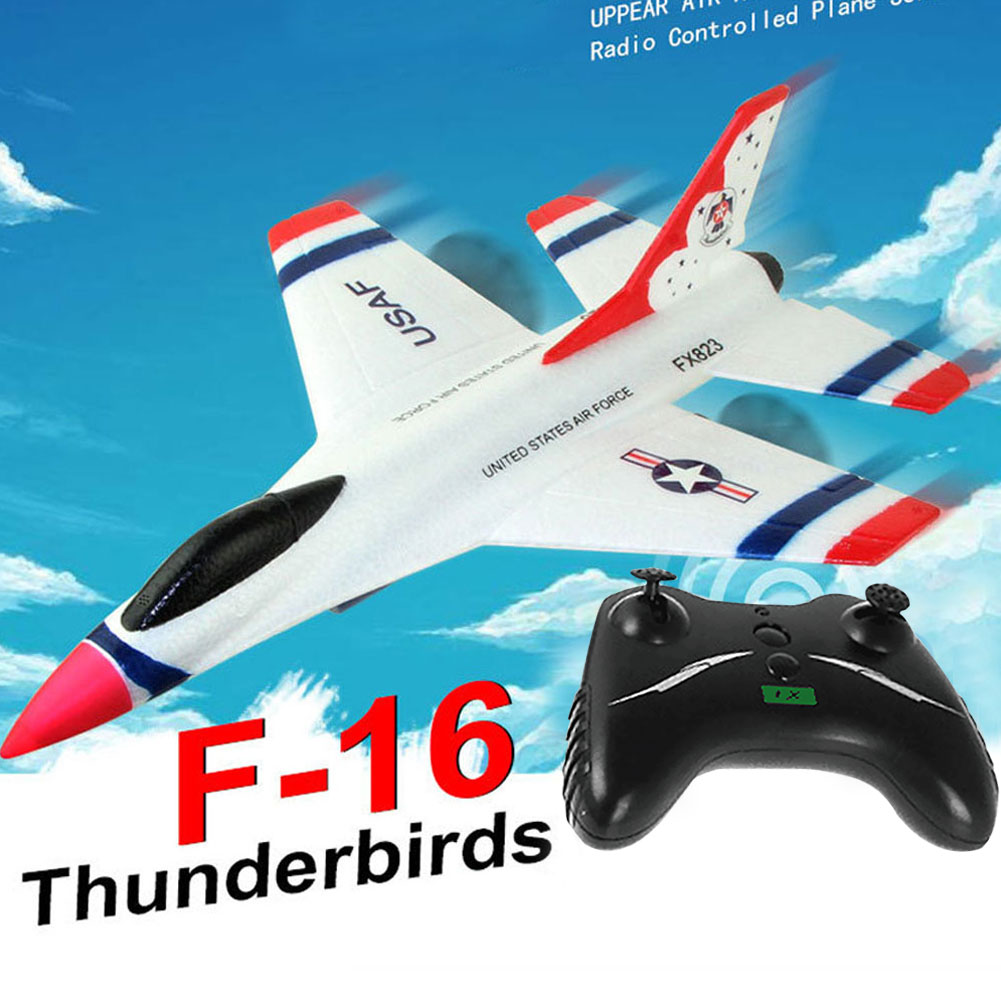 F16 Thunderbirds RC Airplane 2.4G Remote Control 80 meters Aeroplane Glider Beginner RC Glider Airplane remote control plane image