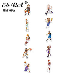 Small Size Mobile stickers Mini Pegatinas Cup stickers Basketball Players 10 Pcs/Set for Bottle Notebook Waterproof Decals