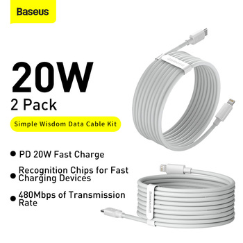Baseus USB Type C PD 20W Cable for iPhone SE 11 Pro X XS 8 Fast USB C Cable for iPhone Charging Cable USB Type C Cable Wire Code 2
