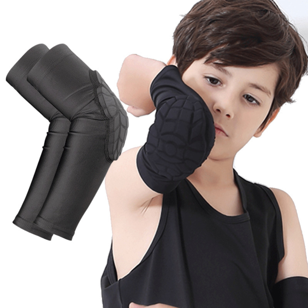 Kids Crashproof Sport Flexible Basketball Shooting Arm Sleeve Support Elbow Pads Cycling Protectors