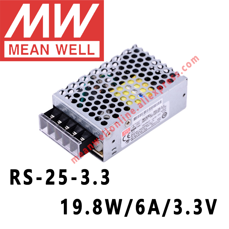 Mean Well Rs 25 3 Ac Dc 19 8w 6a 3v