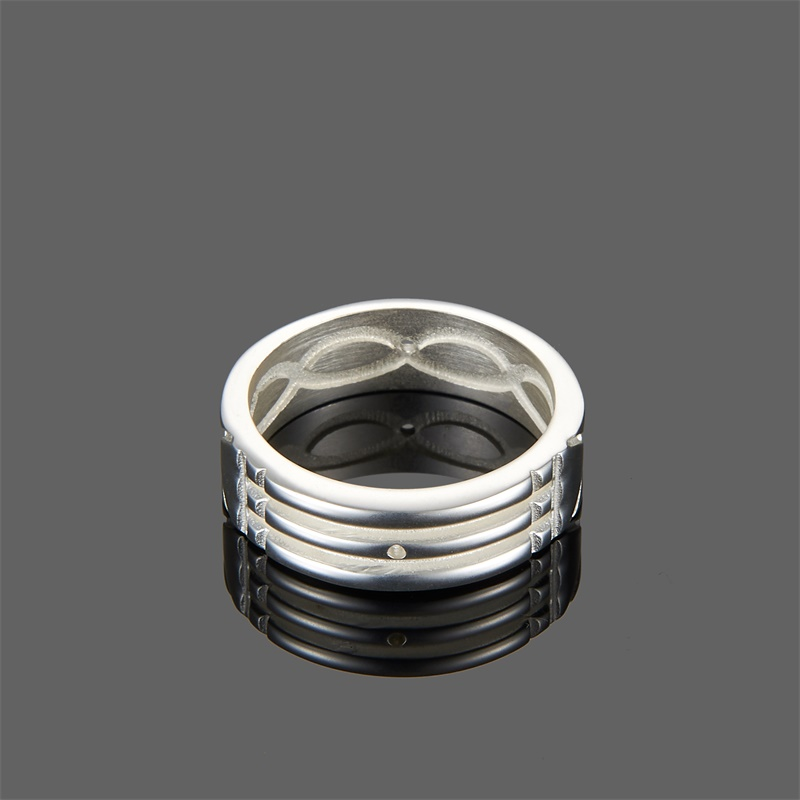 WAWFROK Stainless Steel Trendy Men/women Rings Gold/silver Plated Atlantis Rings for Women/men Engagement/Wedding Ring Jewelry