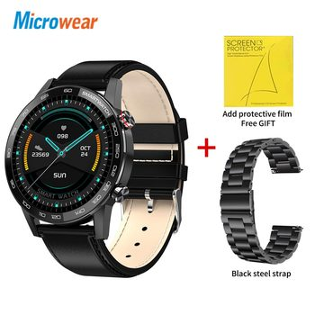 Microwear L16 Smart Watch Men Sports Fitness Tracker IP68 Waterproof Heart Rate Monitor Android IOS Full Touch Screen Smartwatch 27