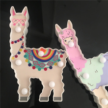 New Update 3D Painted Alpaca Led Night Lamp Battery Powered Cute Desktop Lights For Kids Gift Dragon Animal Style Home Lighting цены