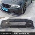 Carbon Fiber Front Bumper Guard Body Kit For BMW 3 Series E46 M3 Head Bumper Hugger Car Styling