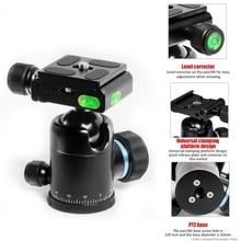 Camera Portable photo Video heads mount ballhead 360 degree rotating Panoramic Shoot ball head dropshipping