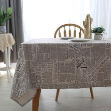Европейская домашняя скатерть в британском стиле из хлопка и