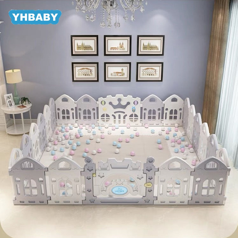 YHBABY Children's Playpen Baby Fence Toddler Children Crawling Mat  Baby Safety Fence Kids Play House Indoor Toys Baby Playpen