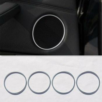 4PC Matt Chrom Tür Lautsprecher Sound abdeckung trim ring Für BMW X5 F15 X6 F16 2015 +