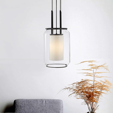 Contemporary Clear Glass LampShade Pendant Lighting Living Room Dining Hanging Lamp Home Decorations Furniture