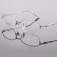 Pure Titanium Ultra Light Glass Frame Charm Women's Myopia Brand