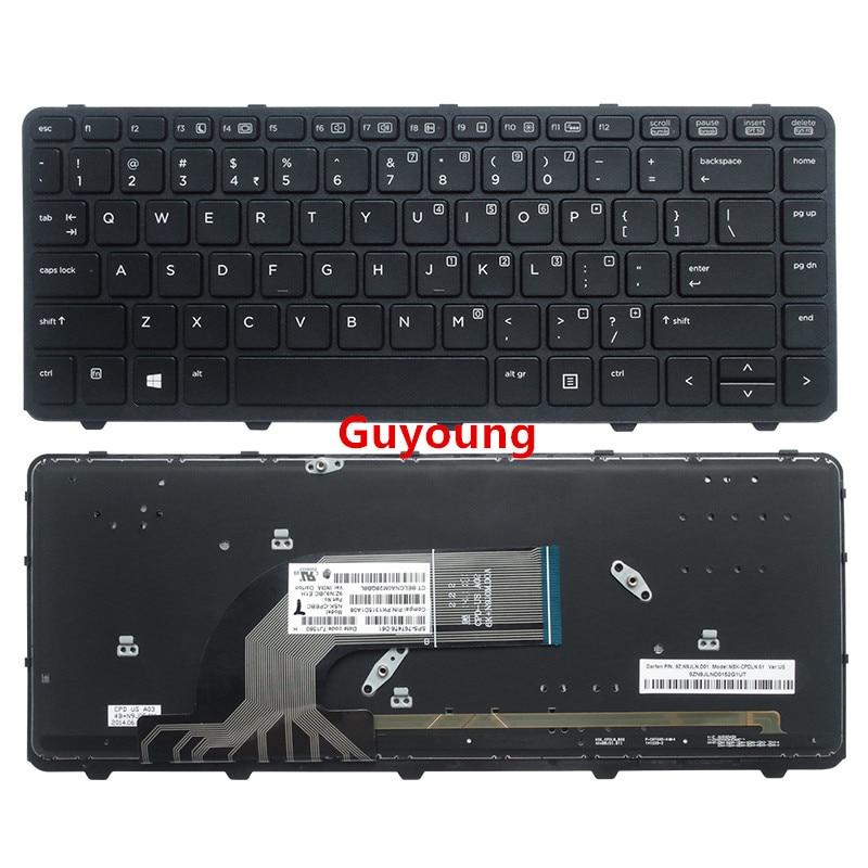 Клавиатура для ноутбука HP 440 G1 640 G1 645 G1 445 G1 G2 430 G2 английская клавиатура с подсветкой
