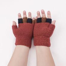 Dziecięce rękawiczki robione na drutach dziecięce dziecięce zimowe ciepłe dzianiny bez palców rękawiczki dziecięce dziecięce rękawiczki zimowe ciepłe miękkie rękawiczki Gant Enfant Hiver 2021 tanie tanio CN (pochodzenie) COTTON Poliester Polyester Cartoon Unisex Kids Gloves