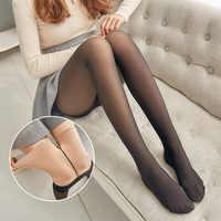 Inverno feminino meias grossas collant collant preto meia-calça medias náilon collants manter quente feminino meia-calça meias longas