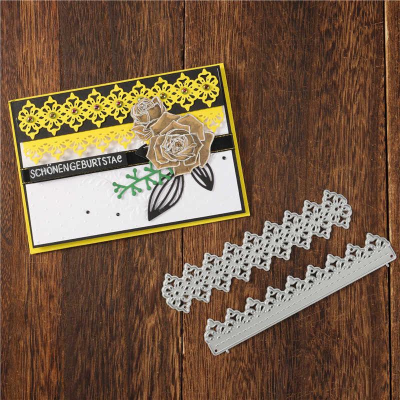 Kokorosa kesme ölür Metal ölür katmanlı dantel kenar kalıp Scrapbooking albümü kart yapımı kabartma şablon Diecuts dekorasyon