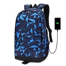 Men Backpack Basketball Bag USB Charging Intelligent Backpack Boys Knapsack Waterproof Travel Computer Schoolbag For Students