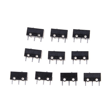 10Pcs D2FC-F-7N Micro Switch For Mouse Replacement Substitute Tested image