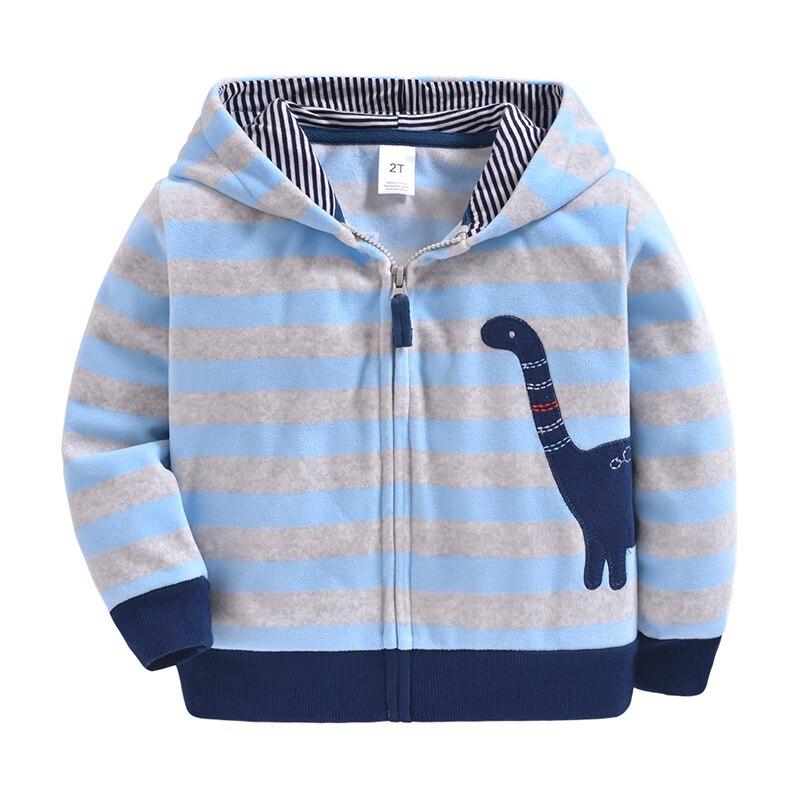 Autumn Spring Baby Boys Girls Coats Cotton Cartoon Dinosaur Zipper Coat Children's Kids Casual Sportswear Clothing