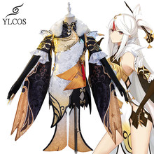 Game Genshin Impact Cosplay NINGGUANG Costume Halloween Party Dress For Women Girls Full Set