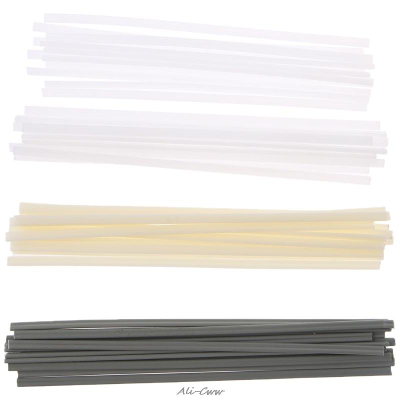 Varas plásticas novas da soldadura de 50 pces abs/pp/pvc/pe para o soldador plástico (cor aleatória)