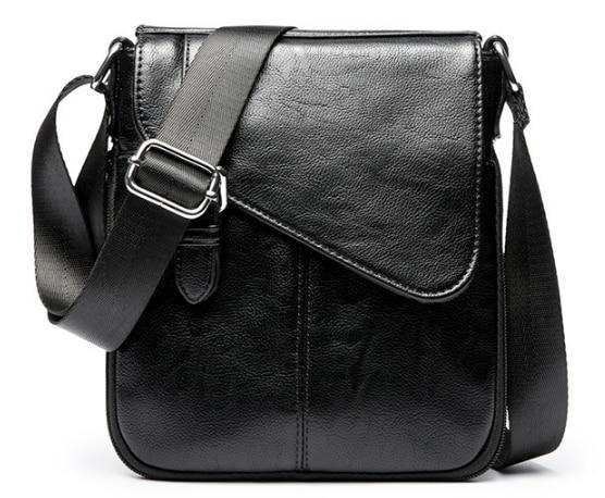 New Arrival Men Small Briefcase Dapper Shoulder Outgoing Business Bag Men's Designer Soft Leather Bags Bolso Hombre DF332