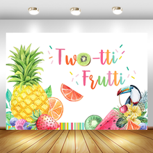 Twotti Frutti Birthday Backdrop Summer Fruit Birthday Party Photo Background Two tti Frutti Girls Birthday Decorations Backdrops