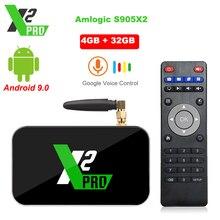 X2 プロ tv ボックスアンドロイド 9.0 4 ギガバイトの ram 32 ギガバイト amlogic S905X2 X2 キューブ 2 ギガバイト 16 8gb セットトップボックス 2.4 グラム/5 グラム wifi 1000 メートル 4 18k メディアプレーヤー