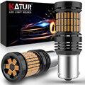2x PY21W W21W LED Canbus Error Free No Hyper Flash LED ba15s Bau15s 1156 wy21w T20 7440 LED Turn Signal Brake Car Lights Orange