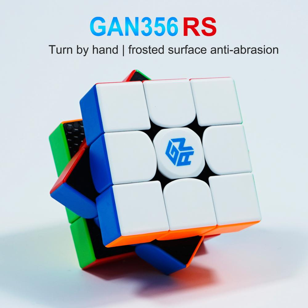 GANs Cube GAN356R S 3x3x3 Magic Speed Cube Professional Stickerless Gan 356 RS 3x3 Cube Puzzle Cubo Magico GAN 356 R S
