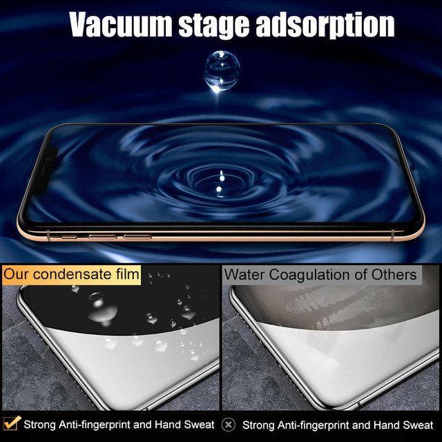 500D Full Cover Hydrogel film For iPhone 11 12 Pro MAX mini Screen Protector For iPhone 7 8 6s 6 Plus SE 2020 XR X XS Not Glass 4