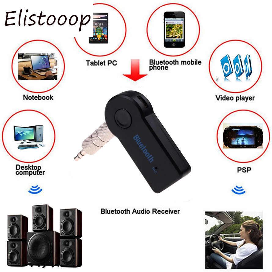 Мини Handsfree Mini 3,5 мм Автомобильный Bluetooth аудио Музыка приемник адаптер авто AUX потоковая A2DP комплект с микрофоном для телефона для автомобиля