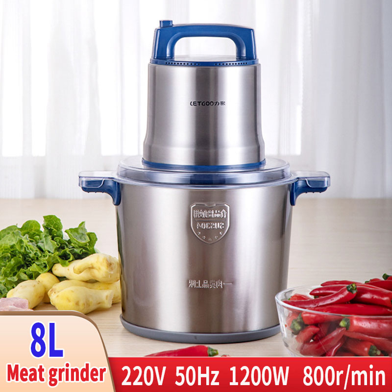 220V 1200W 800r / Min Electric Meat Grinder Easy To Clean Stainless Steel Meat Grinder For Meat Grinder