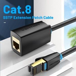 Image 2 - Chính Hãng Vention Cat8 Ethernet Cáp Nối Dài SFTP 40Gbps RJ45 Mở Rộng Dây Adapter Dành Cho Router Modem Máy Tính Cát 8 Ethernet dây Cáp