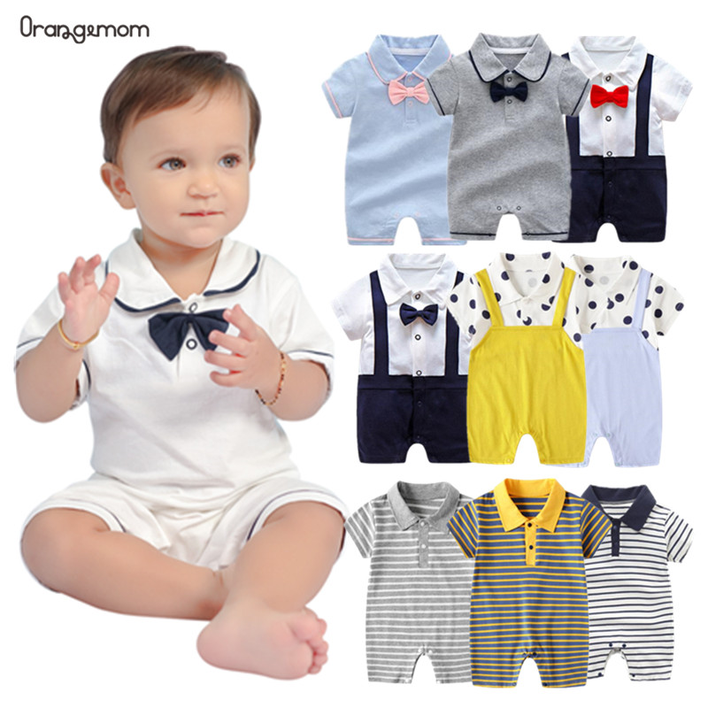 Toddler Infant Baby Boys Romper Gentleman Jumpsuit Party Birthday Outfit Clothes