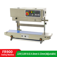 Fast Sealing Machine Automatic Continuous Film Sealing Machine Plastic Bag Packaging Machine Inflated Food With Printing Date