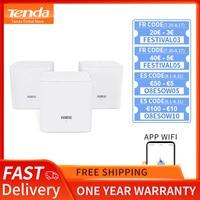 Tenda Nova MW3 Home AC1200 Wireless Router Wifi Repeater Mesh Wi-Fi System Wireless Bridge, APP Remote Manage, Easy Setup