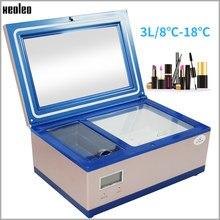 Xeoleo 3l cosméticos geladeira beleza cosméticos portátil congelador máscara emulsão refrigerado pequena caixa de armazenamento de baixa potência