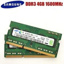 Samsung 8gb 4gb 2gb pc3 12800s ddr3, 8g 4g 2g1600 mhz laptop, memória, notebook módulo sodimm ram